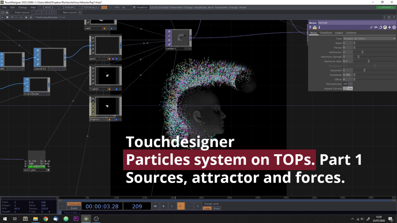 Particle system in touchdesigner